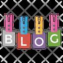 Blog On Laundry Hook Icon