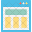 Blog Template Design Element Layout Icon