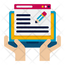 Blog Writing Online Blog Content Writing Icon