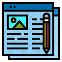 Website Writing Online Icon