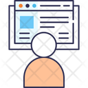 Office Workm Blogger Blogging Icon