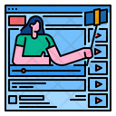 Blogger Vlogger Online Icon