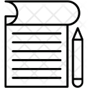 Blogging Composing Copywriting Icon