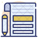 Blog Page Blogging Writing Blogging Icon