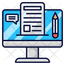 Blogging Blog Content Icon