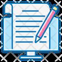 Blogging Pencil Computer Icon