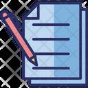 Blogging Documentation Online Report Icon