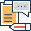Blogging Content Writing Icon
