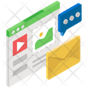 Content Writing Web Blog Blogging Platforms Icon