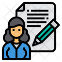 Blogger Writer Pencil Icon