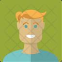 Blond Boy Face Icon