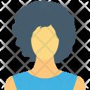 Blond Female Worker Icon