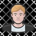 Blond Man Blond Sweater Icon