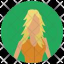 Blond woman Icon
