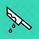Blood Knife Halloween Icon