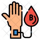 Blood Hand Heart Icon