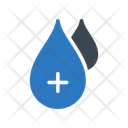 Blood Positive Drop Icon