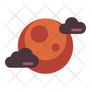 Moon Night Clouds Icon