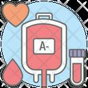 Blood Bottle Drip Blood Bag Icon