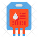Blood Bag Donation Iv Icon