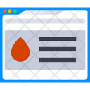 Blood Bank Website Online Blood Bank Web Site Icon