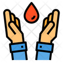 Blood Donation Hands Icon