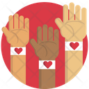 Hand Blood Donation Help Icon