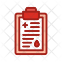 Blood Information Blood Details Blood Report Icon