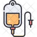 Blood Plasma Infusion Bag Icon