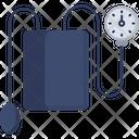 Blood Pressure Gauge Sphygmomanometer Tensiometer Icon