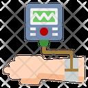 Blood Pressure Gauge Patient Health Check Icon