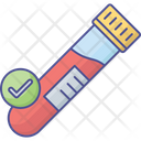 Sample For Lab Sample In Flask Test Icon