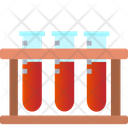Blood Sample Blood Test Test Tube Stand Icon