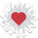 Blood Spatter Blood Splash Bloody Heart Icon