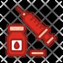 Blood And Syringe Blood Syringe Icon