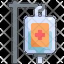 Saline Iv Bag Medical Icon