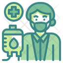 Blood Transfusion Profession Doctor Icon