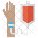 Iv Drip Blood Bag Transfusion Icon