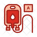 Blood Type A Blood Pouch Blood Bag Icon
