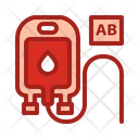 Blood Type Ab Blood Pouch Blood Bag Icon