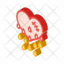 Blooding Heart Isometric Icon