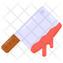 Halloween Tool Bloody Blade Bloody Cleaver Icon