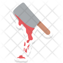 Bloody Cleaver Bloody Knife Halloween Butcher Knife Icon