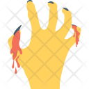 Zombie Hand Frightening Icon