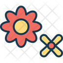 Bloom Blossom Decorative Flower Icon