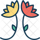 Blooming Bouquet Branches Icon