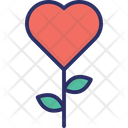 Blooming Flower Romance Symbol Icon