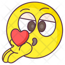 Blow Kiss Emoji Blow Kiss Expression Emotag Icon