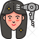 Blowdry Hairstlyling Hairdryer Icon