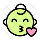 Blowing A Kiss Baby Icon